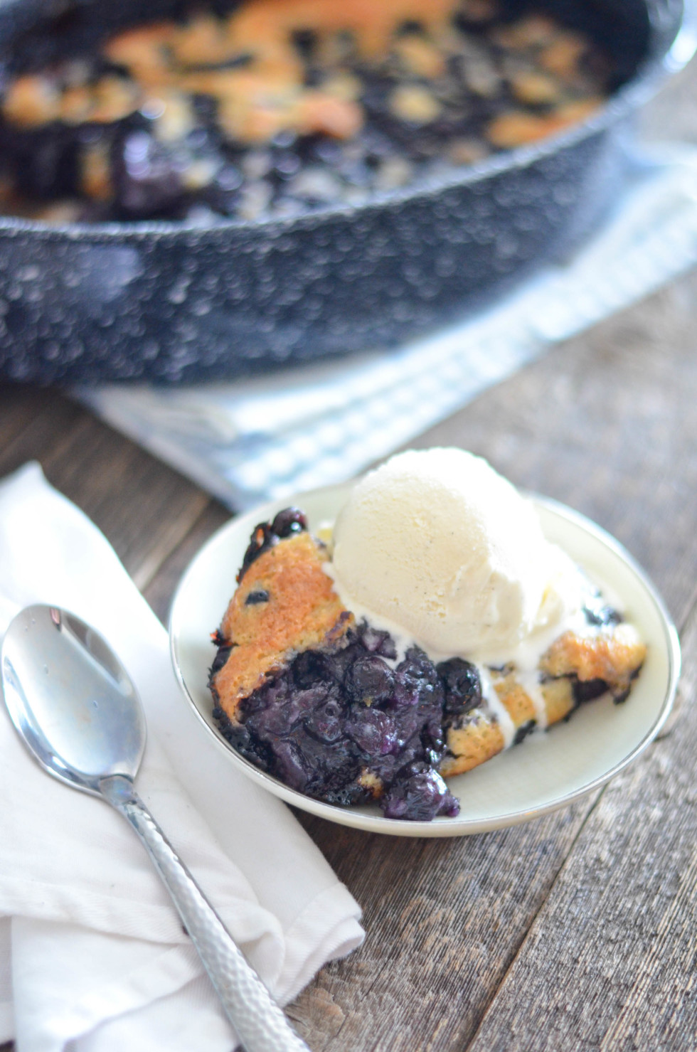 Easy five ingredient blueberry cobbler // Karista's Kitchen