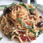 Mediterranean Pasta with Feta, Sun Dried Tomatoes, Lemon and Fresh Basil