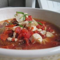 Fish Stew With Fennel, Fire Roasted Tomatoes and Garlic