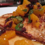 Petrale Sole with Mixed Olive and Citrus Relish