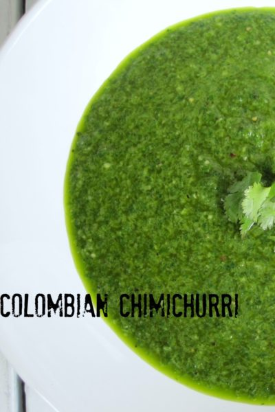 Colombian Chimichurri Sauce for Fish, Beef, Pork or Chicken