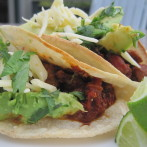 Spice Rubbed Flank Steak Tacos with Fresh Avocado and Tio's Salsa