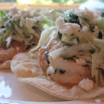 Grilled Shrimp Tacos with Cilantro Slaw