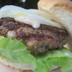 Smokey Bleu Cheese Burgers with Walla Walla Sweet Onions and Horsey Sauce