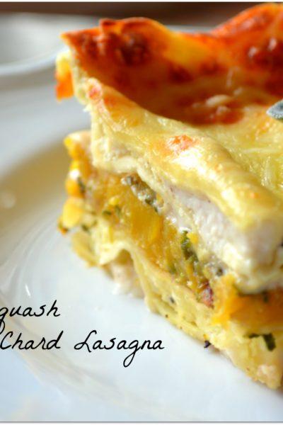 Butternut Squash and Swiss Chard Lasagna