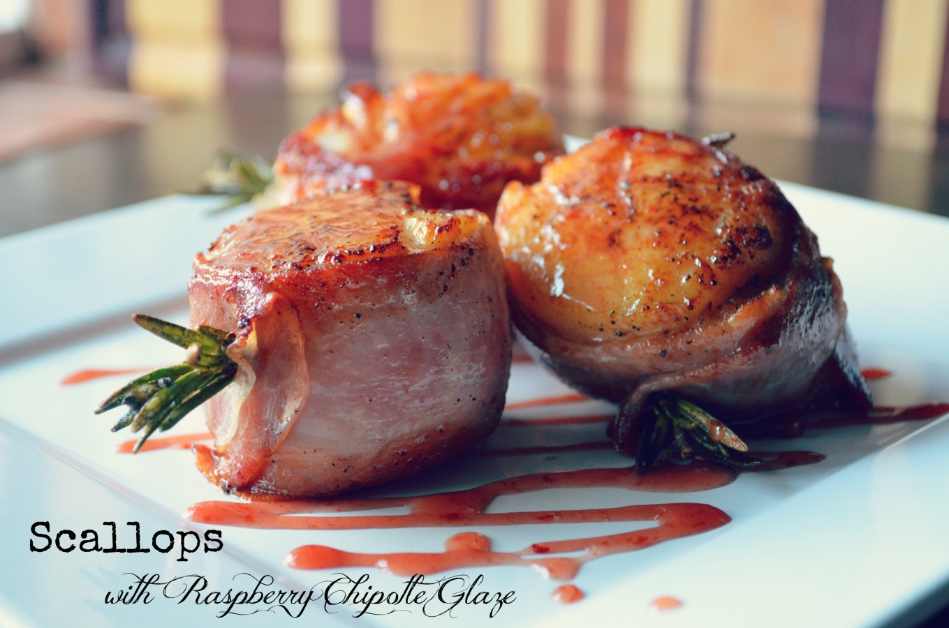 Scallops with a Raspberry Chipotle Glaze