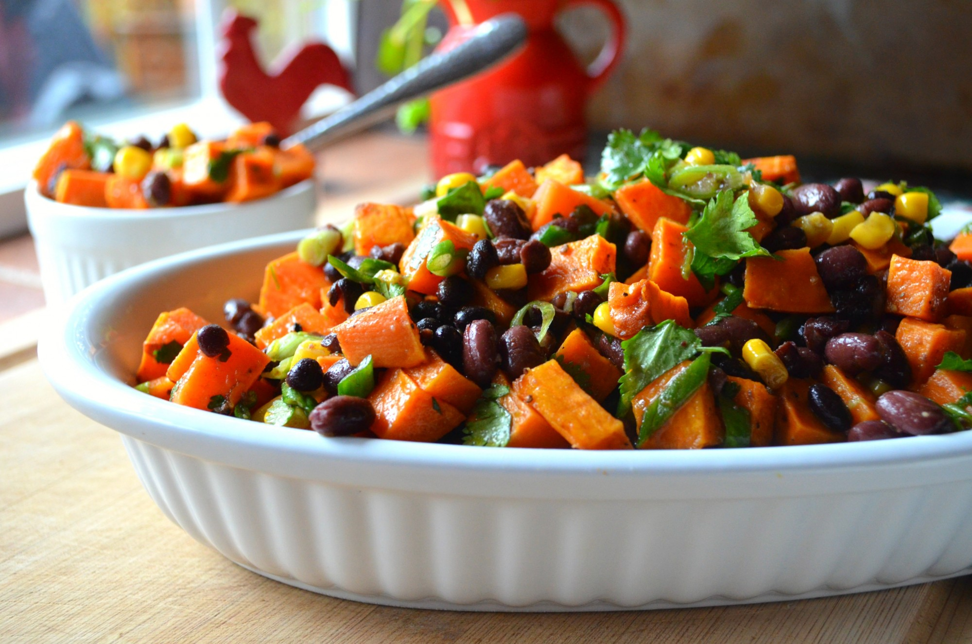 Roasted Sweet Potato And Black Bean Salad Karista Bennett