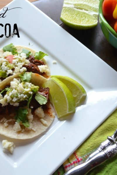 slow braised barbacoa beef for tacos from Karista's Kitchen