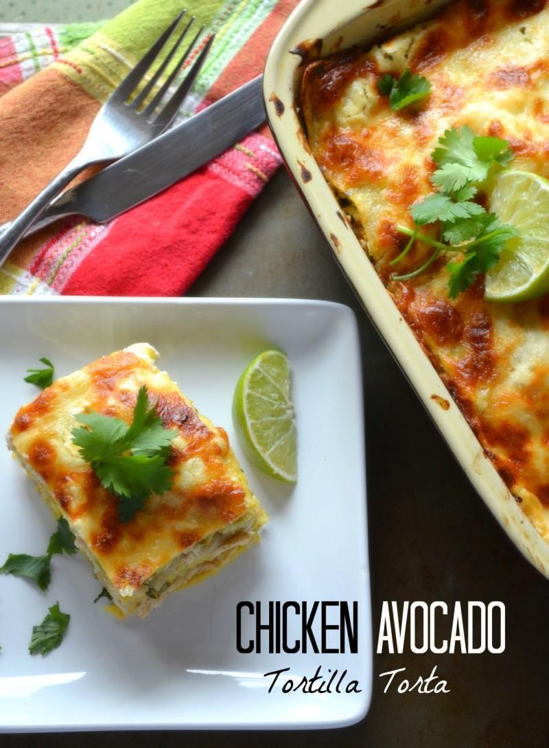 chicken avocado tortilla torta