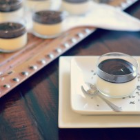 Lavender Panna Cotta with Dark Chocolate Ganache
