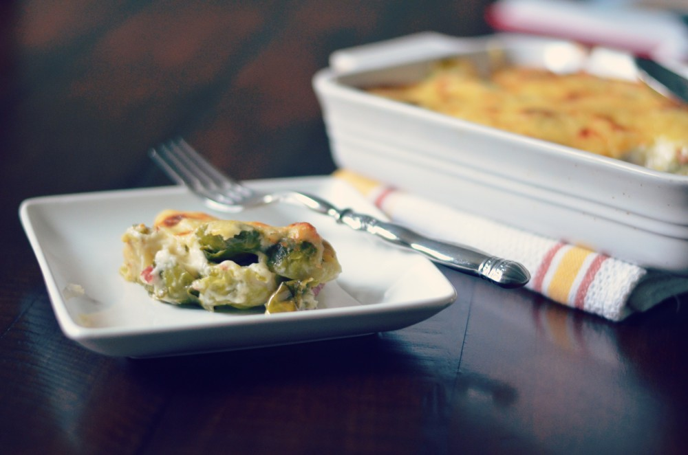 brussel sprouts gratin