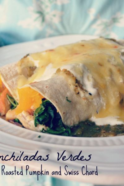 Turkey Enchiladas with Pumpkin and Swish Chard
