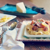 Jovial Pasta with Italian Sausage and a Smoky Tomato Cream Sauce