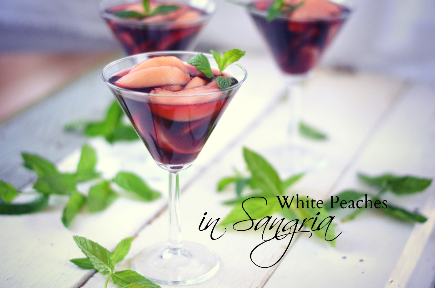 White Peaches in Sangria // Karista's Kitchen  The perfect summer dessert!