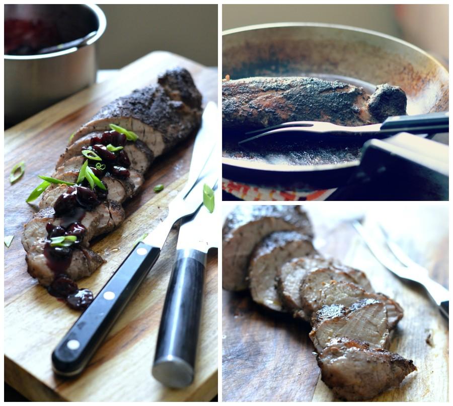 Allspice Rubbed Pork Tenderloin with Asian Cherry Glaze // Karista's Kitchen