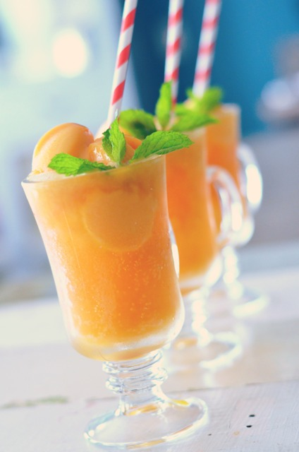 Mango Sorbet and Ginger Beer Floats