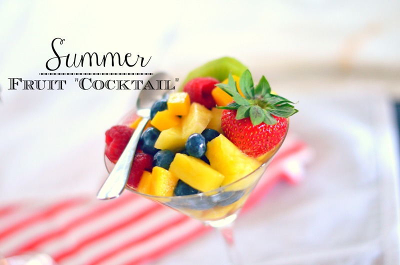 summer fruit cocktail with wine or your favorite liquer