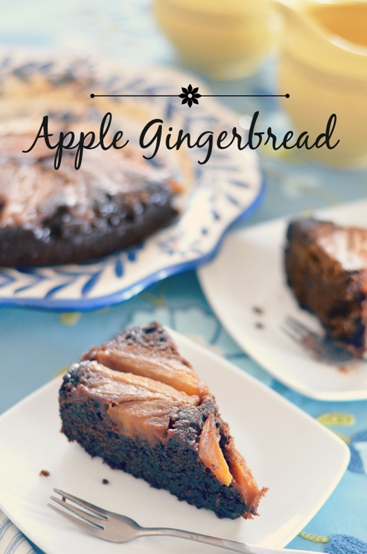 Upside Down Apple Gingerbread