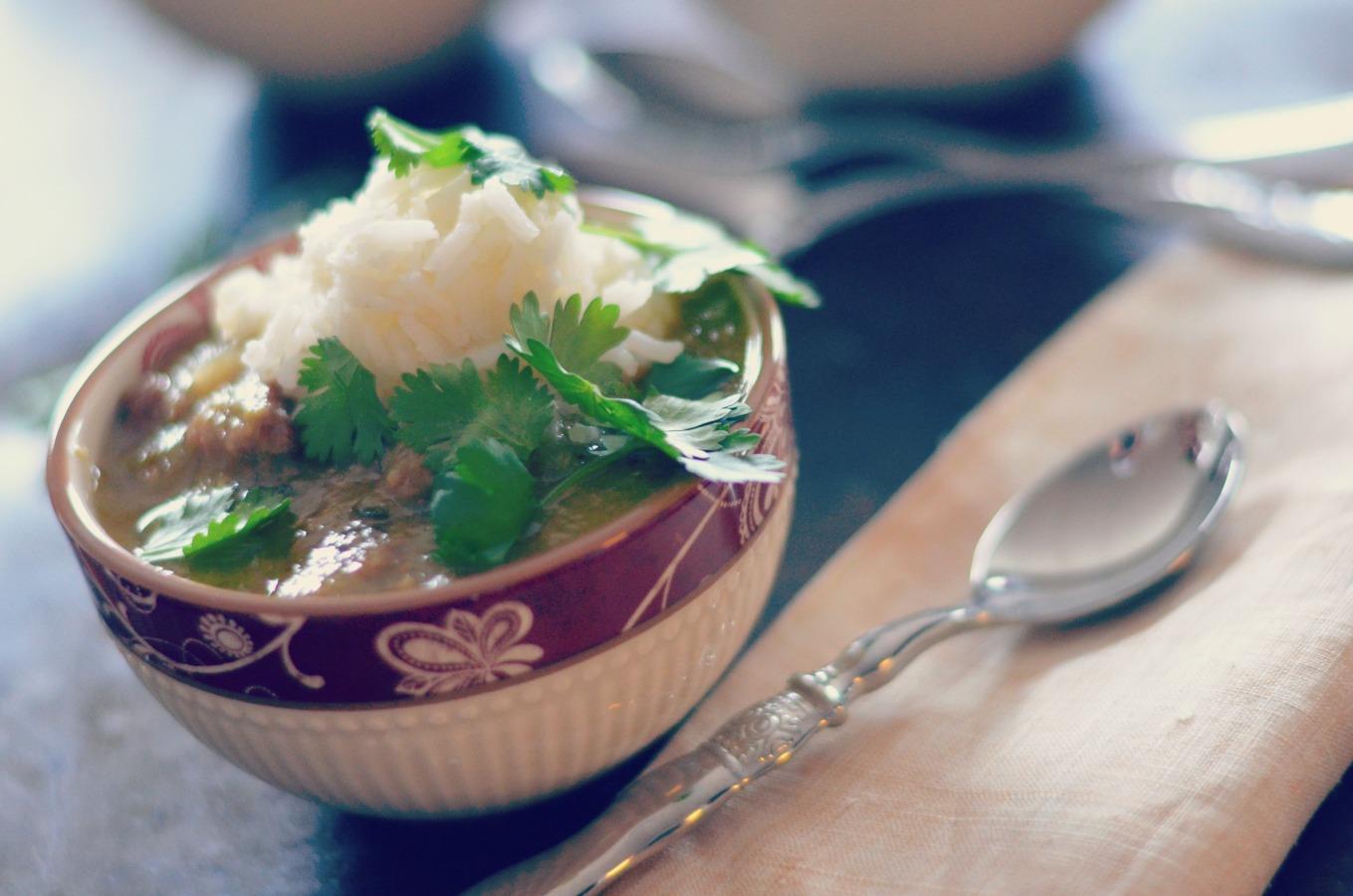 Pork Chile Verde with Basmati Rice // Karista's Kitchen