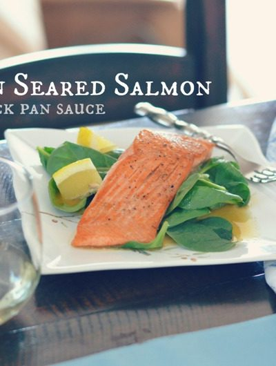 How to pan sear salmon with a quick pan sauce