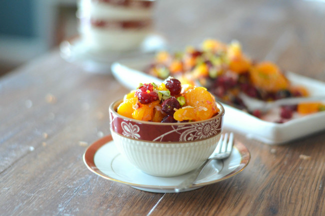 Roasted Cranberry and Mandarin Salad