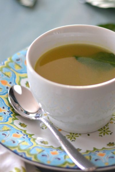 Sipping Broth with Green Curry and Lime Leaves // Karista's Kitchen