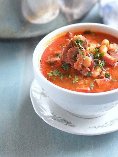 Spanish White Bean Stew/Fabada // VRAI Magazine // Karista's Kitchen