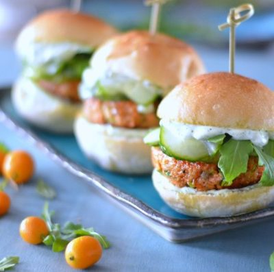 Asian Salmon Sliders with Cilantro Lime Aioli and Marinated Cucumbers // Karista's Kitchen