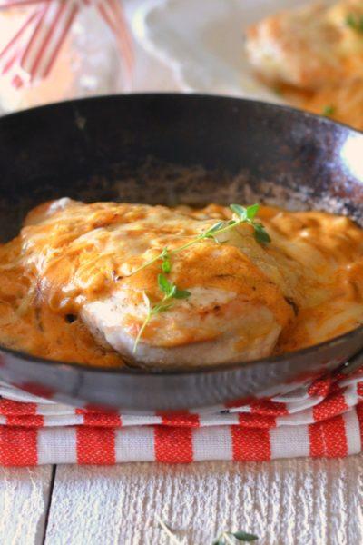 Chicken Gaston Gerard // French Chicken with Dijon, caramelized onions, paprika and creme fraiche // Karista's Kitchen for VRAI Magazine