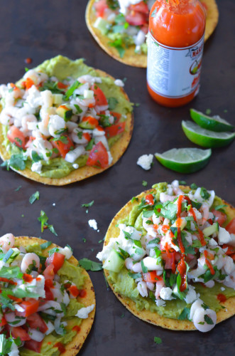 Scallop and Bay Shrimp Ceviche Tostadas - Karista's Kitchen