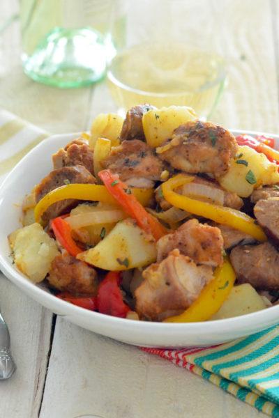 Chicken Scarpariello from Rao's in Las Vegas // Isernio Sausage Company // Karista's Kitchen
