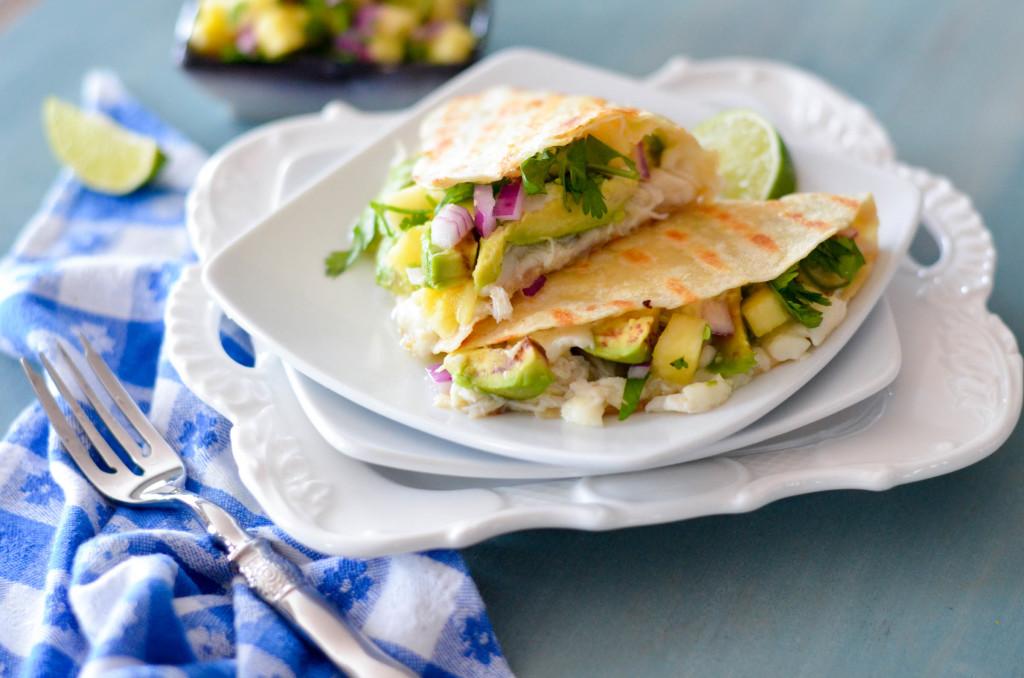 Crab and Avocado Quesadillas with Pineapple Cilantro Salsa // Karista's Kitchen