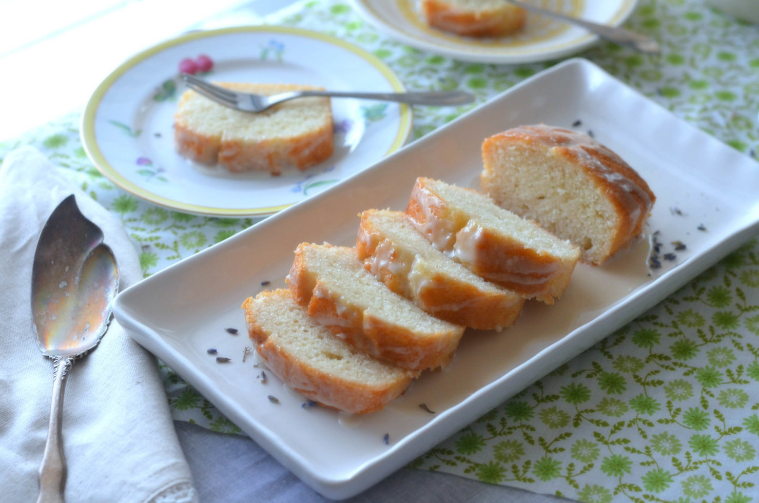 Lemon Yogurt Cake with Lavender Icing//Karista's Kitchen