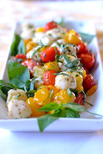 Roasted Heirloom Cherry Tomato Caprese Salad // Karista's Kitchen