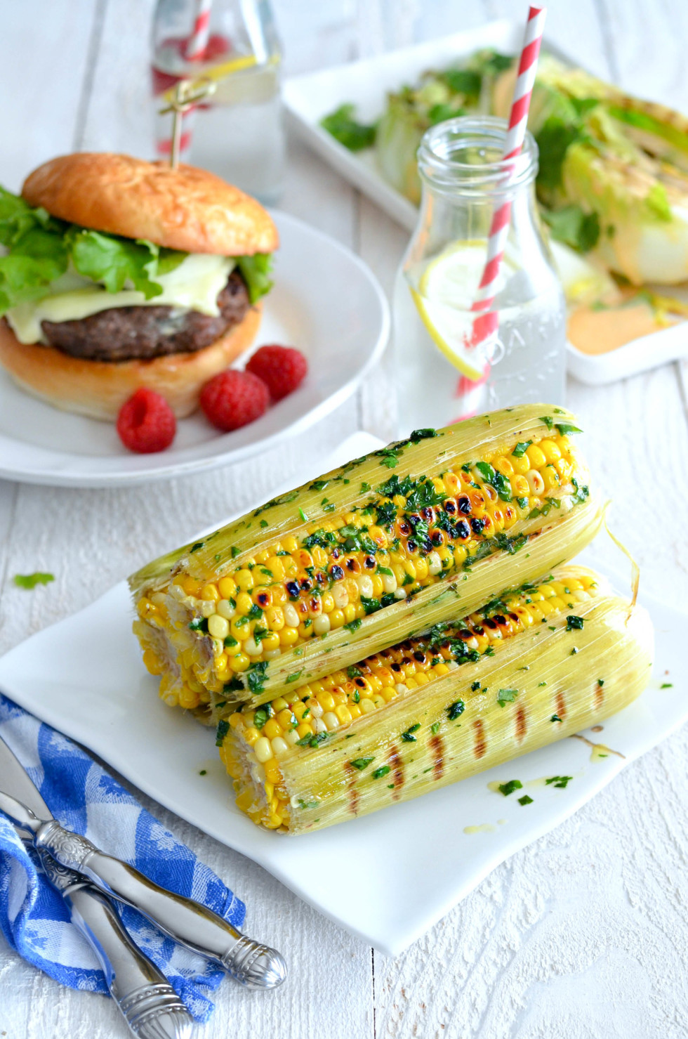 Grilled Fresh Corn on the Cob with Cilantro Lime Butter // Karista's Kitchen