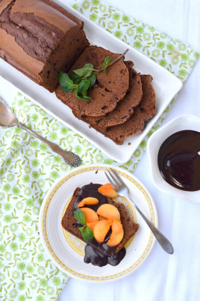 Chocolate Pound Cake with Mexican Chocolate Sauce and Fresh Papaya // Karista's Kitchen