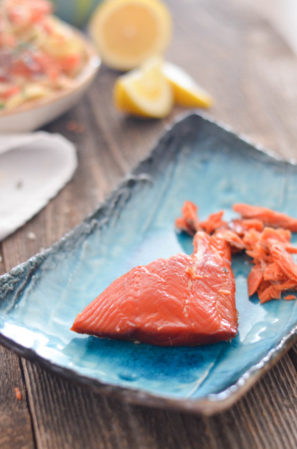 smoked salmon from Two If By Seafoods