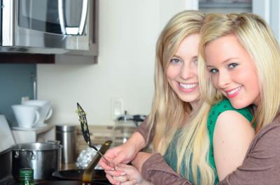 My two sassy gals at Thanksgiving // Karista's Kitchen