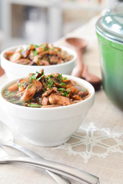 Turkey, Mushroom and Wild Rice Soup // Karista's Kitchen