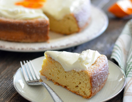 Orange Ricotta Cake with Whipped Sweet Mascarpone // Karista's Kitchen // Perfectly creamy, dreamy and slightly sweet with a burst of Orange!