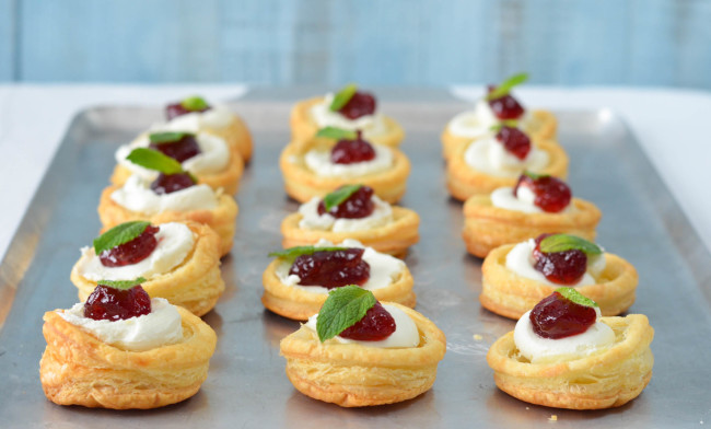 Puff Pastry Crostini with Goat Cheese and Strawberry Pepper Jelly // Karista's Kitchen