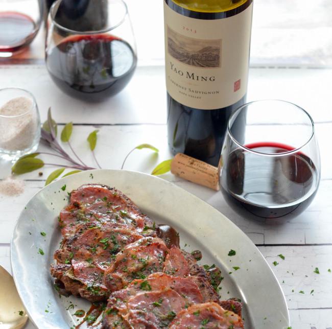 Beef Tenderloin Saltimbocca with Red Wine Pan Sauce // Karista's Kitchen