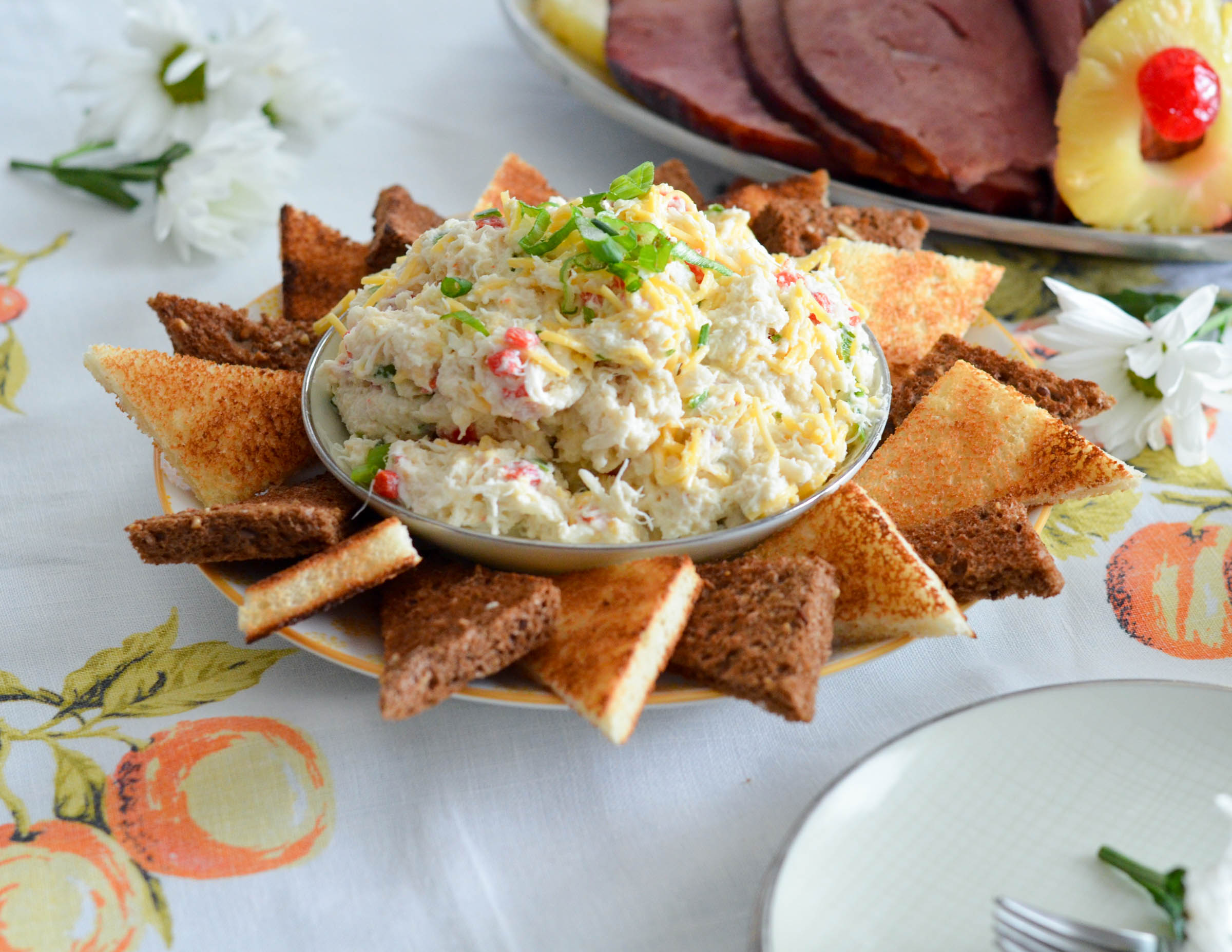 Retro Crab Salad with Toast Points