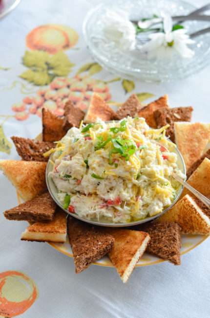 Retro Crab Salad with Toast Points // Karista's Kitchen // A perfectly delicious way to start a dinner party or holiday gathering.