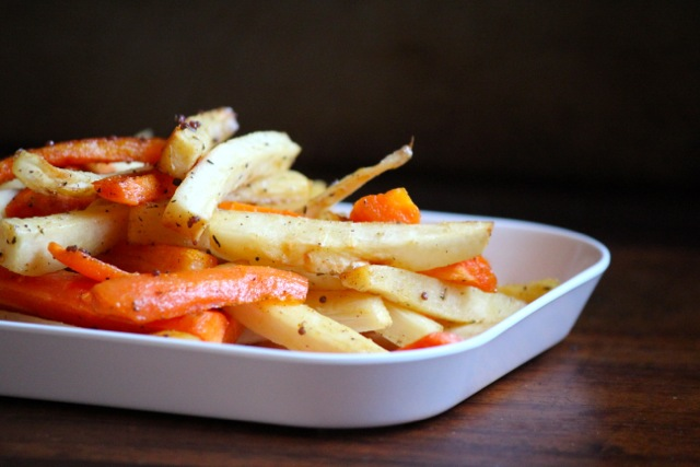 Maple Roasted Parsnips and Carrots from Alaska From Scratch