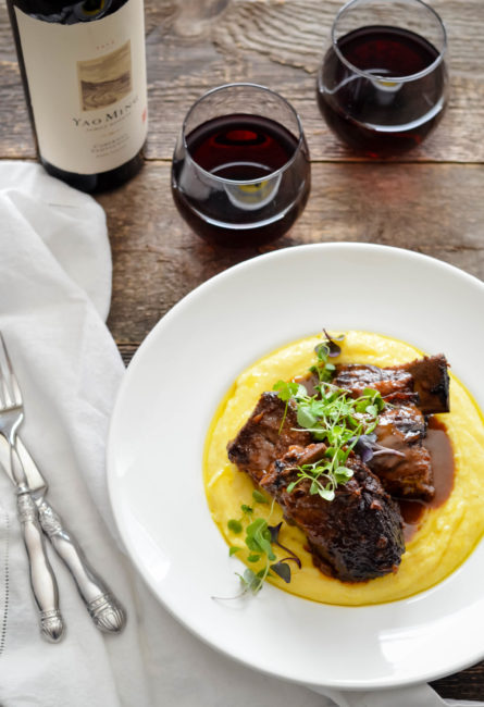 Five Spice Braised Beef Short Ribs with Creamy Polenta // Karista's Kitchen