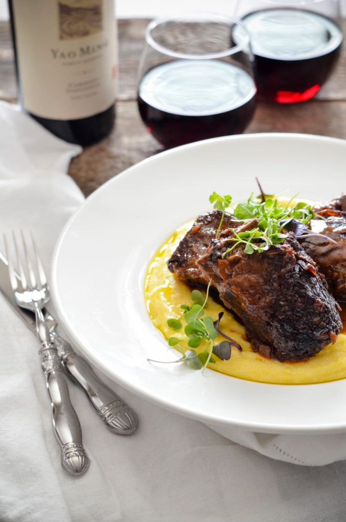 Five Spice Braised Beef Short Ribs with Cream Polenta // Karista's Kitchen