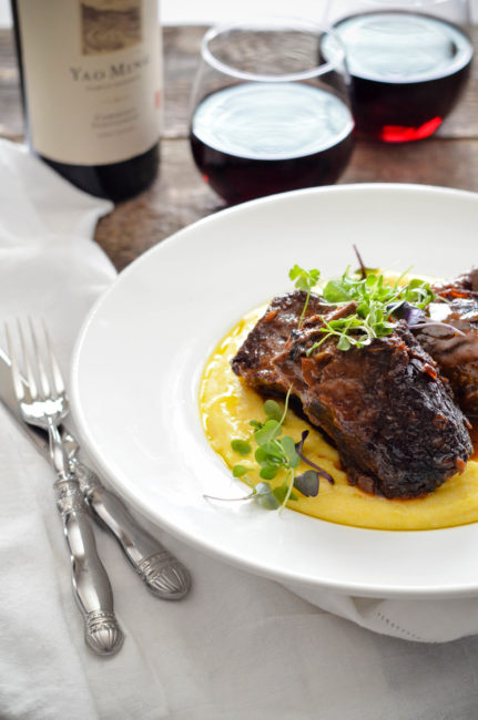 Five Spice Braised Short Ribs with Cream Polenta // Karista's Kitchen