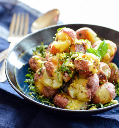 Roasted New Red Potatoes with Lemon and Basil
