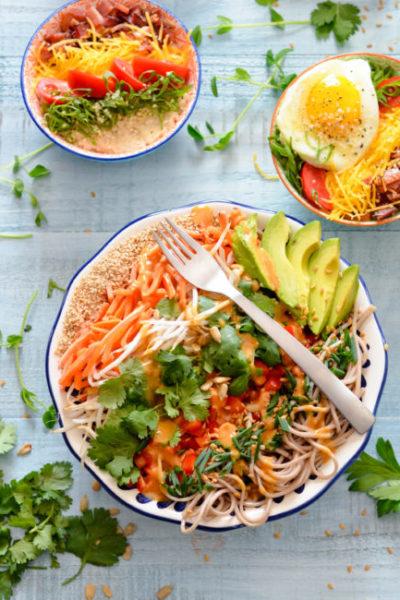 Asian Noodle Salad Bowl // Karista's Kitchen